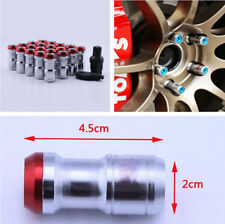 M12 X1.5 DIY 20Pcs Auto Car Wheel Concealed Lock Nuts Lug Body Red Alloy Steel