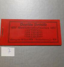 Deutsches Reich Markenheft Markenheftchen Deutsche Nothilfe 1935 komplett (7)