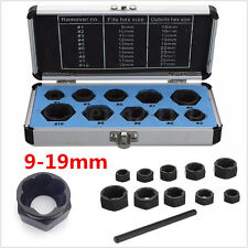 11pcs 9-19mm Damaged Nut Bolt Remover Stud Extractor Lock Drive Socket Tool Set