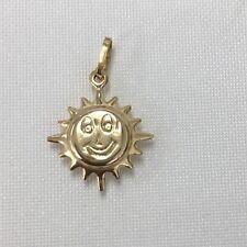 Sun ☀️ shine, smiley face Italian made Solid18K Gold  Pendant/Charm(750)