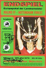 Firmado Lloyd Frank Clark Larry Nottingham Forest Reyes de Europa FOLLETO prueba
