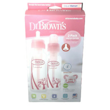 NEW Dr Brown's Options Baby Bottles Special Edition Pink 2 Pack  8 Oz 1 Pacifier