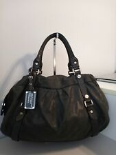 Marc  by marc jacobs leather satchel bag dark gray  color