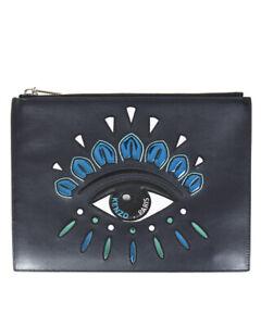Borsa Pochette Kenzo Bag EYE CLUTCH Donna Nero F852SA607L22 78 Tg. U