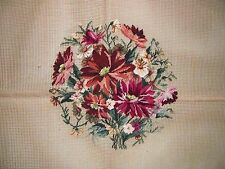 EP 445 Vintage Merino Preworked Petitpoint Red Floral Bouquet Needlepoint Canvas