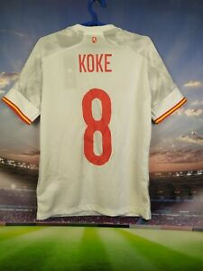 Koke Spain Jersey 2020 Away Kids Boys 13-14 Shirt Adidas FI6242