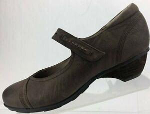 Abeo Mary Jane Nala BIO System Brown Comfort Leather Heel Bumps Womens 8.5 N