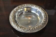 "S.Kirk & Sons Repousse Rose Pattern Sterling Silver 10 1/2"" Compote Bowl 4.8oz."