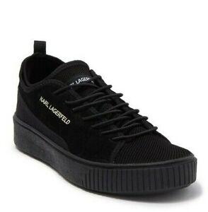 Karl Lagerfeld Paris Suede Mesh Men's Sneakers -Black -9- New W/Tags