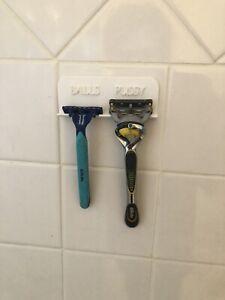 """White shower razor holder """"Balls Pussy"""" Organizer"""
