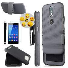for Phone Model - Premium Rugged Hybrid Case Kickstand & Clip Holster Slim Cover