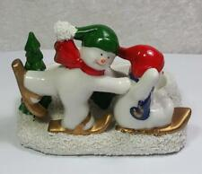 Snowmen Candle Holder for 2 Tea Light Candles Christmas Winter Holiday Fun