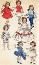 "Doll Clothes PATTERN 8799 for 7"" 8"" Ginny Toni Posie 49ers doll Gigi Lucy Coco"
