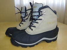 COLUMBIA FALMOUTH Gray Leather Winter Snow Women's Boots Size 6