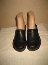 Born Youth  Black Leather Slides Clogs Miules Shoes Shoe Size 11/28.5 M/W