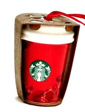 Starbucks coffee ornament Christmas 2013 red to go cup ceramic new