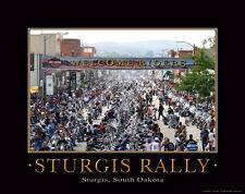 Harley Davidson Motorcycle Racing Motivational Poster Art Sturgis Rally  MVP12