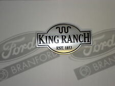 NEW OEM FORD TAILGATE KING RANCH PACKAGE CHROME NAME PLATE 5L1Z-7842528-AA