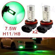 2X H11 H8 LED Bulbs For Car Fog Driving Lamp DRL Light Trim Parts Green Style