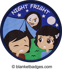 1 Night Fright camp camping guide badge patch patches badges blanket girl guides