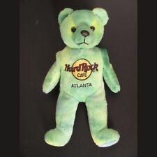 Hard Rock Cafe Plush Teddy Bear Atlanta GA Monty Beara Green Toy