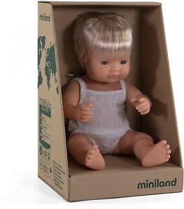 Miniland Doll Caucasian Boy 38cm Vanilla Scented Anatomically Correct