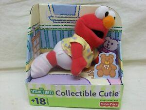 "NIB 2001 ""Elmo"" Sesame Street Collectible Cutie Plush Fisher Price (90493) Baby"