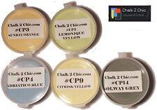 #p 5a Paleta-muestra Caja De 5 Xl Ollas Tiza basa Pintura Colores 5 X 100 Ml Ollas
