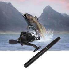 HOT Mini Portable Pocket Fish Pen Shape Aluminum Alloy Fishing Rod Pole Reel