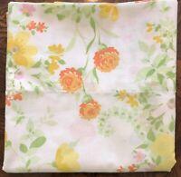Vintage JC Penney (1) Standard Pillowcase Floral Percale No-Iron