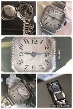 Art Deco Imperi Sterling Silver Watch ~ Sterling Silver Band~ Runs