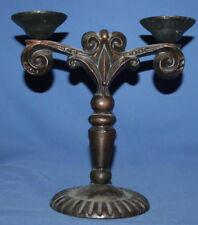 Vintage ornate metal candle holder candelabra