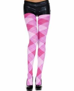 New Music Legs 7013 Opaque Argyle Tights