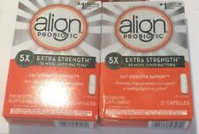 42 Align Probiotic 5X Extra Strength Digestive Support 42 Capsules NIB