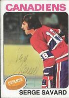 Serge Savard 1975 Topps Autograph #144 Canadiens