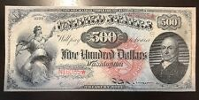 Reproduction $500 United States Note 1869 John Quincy Adams Legal Tender Copy