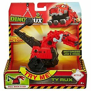 Dinotrux~TY RUX~ Motorized Head & Arms~Has Pull Back Action~Interactive Toy