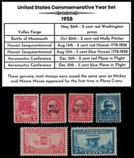 1928 US Postage Stamps Complete Commemorative Year Set Mint