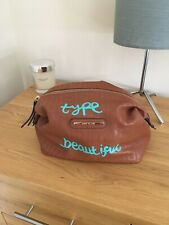 River Island Tan Faux Leather Make Up Bag. Type Beautiful .