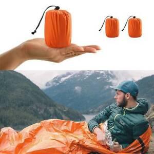 Outdoor Emergency Thermal Waterproof Sleeping Bag Camping Survival Bivvy Sack BG