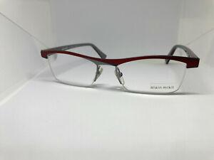 BRAND NEW ALAIN MIKLI RX EYEGLASS FRAMES RED MODEL AL1297 M0HD