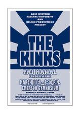 Kinks / Taj Mahal 1972 Cleveland Concert Poster