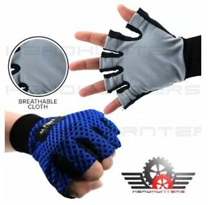 Gloves Anti-Skid Cloth Washable for Motorcycle / Bicycle - BLUE