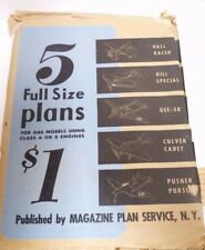 VTG MAGAZINE PLAN SERVICE NY 5 FULL SIZE PLANS FOR GAS MODEL AIRPLANES -#4