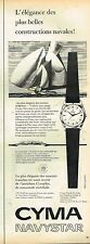 D- Publicité Advertising 1958 La Montre Cyma navystar