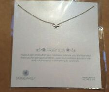 """NEW Dogeared silver friendship bridal friends bow necklace 18"""""""