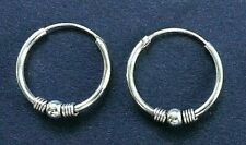 HOOP EARRINGS, BALI style, Solid Sterling Silver, 20mm *NEW* sturdy, 1.5mm thick