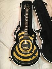 Epiphone Zakk Wylde Les Paul Custom Electric Guitar Bullseye w/ Flight Case EMG