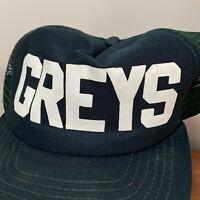 Greys Vintage Trucker Hat Snapback Cap Green 80s New Era USA Mens Rare