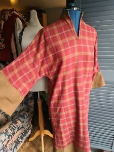 Vintage Wool Dress, Check, Long Sleeve, Size 12